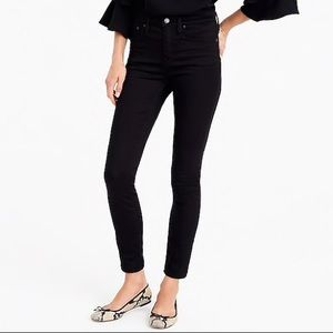 J. Crew Black High Waisted Skinny Jeans